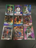 9 Card Lot of Sports Card REFRACTORS & PRIZMS from HUGE Collection with STARS & ROOKIES