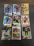 9 Card Lot of FOOTBALL ROOKIE CARDS - Mostly from Newer Sets and Star Players from HUGE Collection