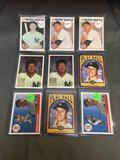 9 Card Lot of MICKEY MANTLE New York Yankees Baseball Cards from HUGE Collection