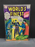 Vintage 1966 DC Comics WORLD'S FINEST #156 Silver Age Comic Book - Key Issue 1st Bizarro Batman!