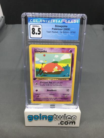CGC Graded 2000 Pokemon Team Rocket 1st Edition #67 SLOWPOKE Trading Card - NM-MT+ 8.5