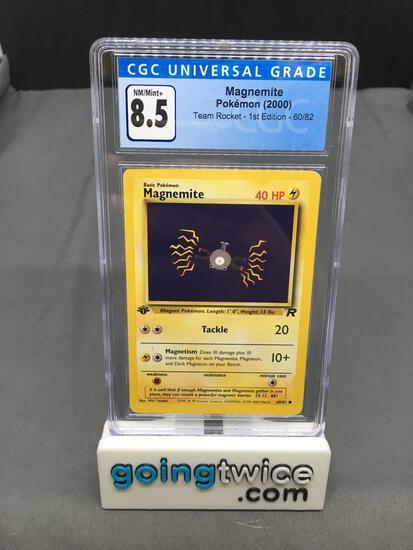CGC Graded 2000 Pokemon Team Rocket 1st Edition #60 MAGNEMITE Trading Card - NM-MT+ 8.5