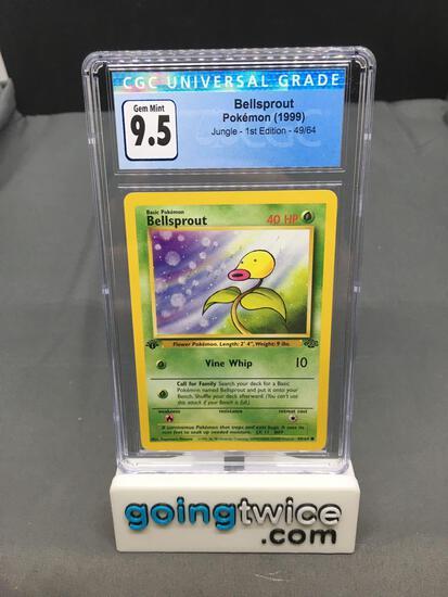 CGC Graded 1999 Pokemon Jungle 1st Edition #49 BELLSPROUT Trading Card - GEM MINT 9.5