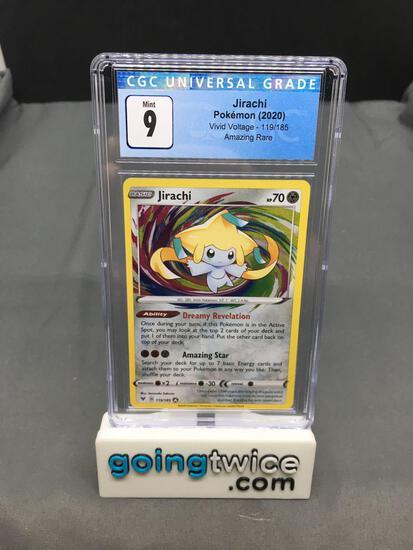 CGC Graded 2020 Pokemon Vivid Voltage #119 JIRACHI Amazing Rare Trading Card - MINT 9