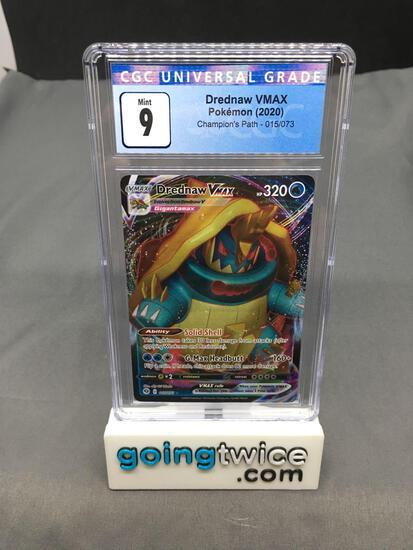 CGC Graded 2020 Pokemon Champion's Path #15 DREDNAW VMAX Holofoil Rare Trading Card - MINT 9