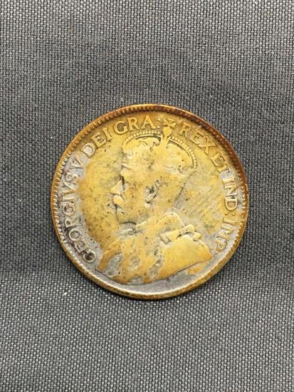 1928 Canada Foreign Silver Quarter - 80% Silver Coin from Estate - 0.1500 Ounces Actual Silver