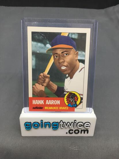 1991 Topps Archives 1953 #317 HANK AARON Braves Baseball Card