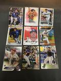 9 Card Lot of BASEBALL ROOKIE CARDS - Mostly from Newer Sets and Star Players from HUGE Collection