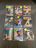 9 Count Lot of KEN GRIFFEY JR. Seattle Mariners Cincinnati Reds Baseball Cards from Collection