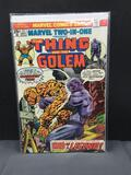 Vintage 1975 Marvel Comics TWO-IN-ONE #8 THING and GOLEM Bronze Age Comic Book from Nice Collection
