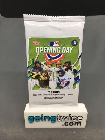 Factory Sealed 2021 Topps Opening Day Baseball 7 Card Hobby Edition Pack