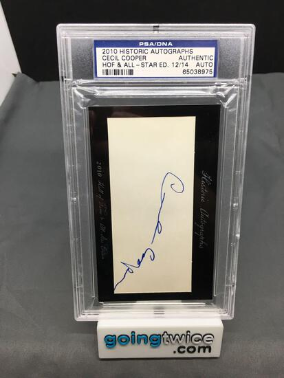 PSA/DNA Slabbed 2010 Historic Autographs CECIL COOPER Authentic Auto /14 - WOW