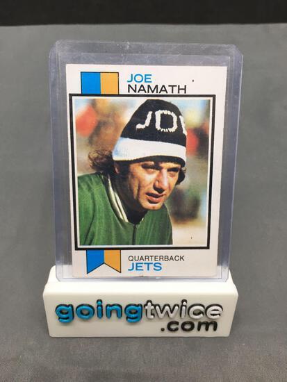 1973 Topps #400 JOE NAMATH Jets Vintage Football Card