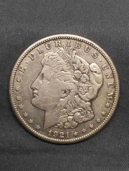 1921-S United States Morgan Silver Dollar - 90% Silver Coin from Estate