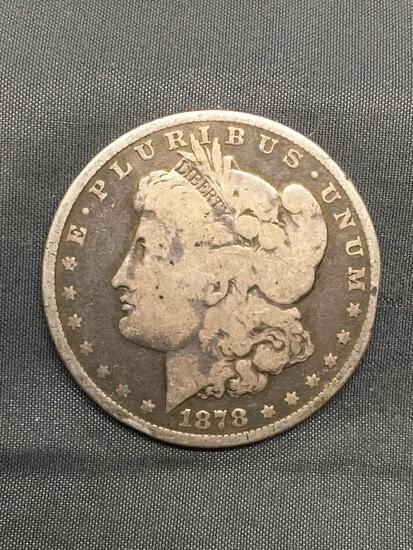 1878 United States Morgan Silver Dollar - 90% Silver Coin from Estate