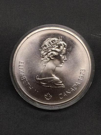 1973 Canada Montreal Olympics Silver 10 Dollar - 92.5% Silver Coin - 1.4453 Ounces Actual Silver