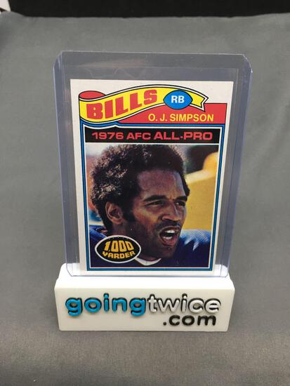 1977 Topps #100 O.J. SIMPSON Bills Vintage Football Card