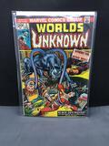 1974 Marvel Comics WORLD'S UNKNOWN #5 Bronze Age Comic Book from Collection
