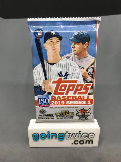 Factory Sealed 2019 Topps Series 1 Baseball 14 Card Hobby Edition Pack