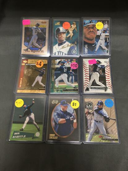 9 Card Lot of KEN GRIFFEY JR. Seattle Mariners Baseball Cards from Huge Collection