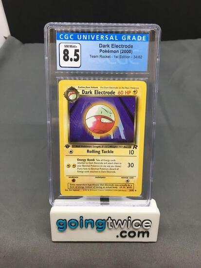 CGC Graded 2000 Pokemon Team Rocket 1st Edition #34 DARK ELECTRODE Trading Card - NM-MT+ 8.5