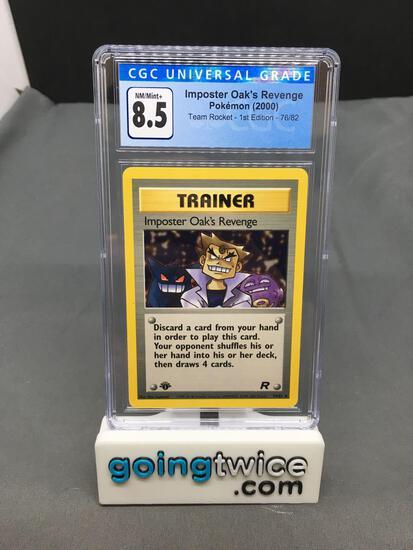 CGC Graded 2000 Pokemon Team Rocket 1st Edition #76 IMPOSTER OAK'S REVENGE Trading Card - NM-MT+ 8.5