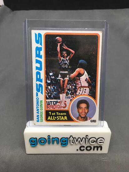 1978-79 Topps Basketball #20 GEORGE GERVIN San Antonio Spurs HOF Trading Card