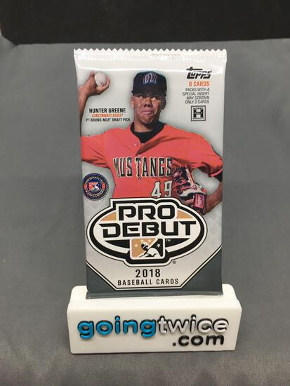 Factory Sealed 2018 Topps PRO DEBUT Baseball Hobby Edition 8 Card Pack