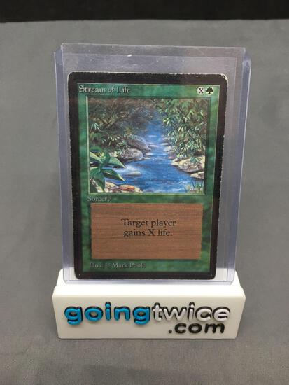 Vintage Magic the Gathering Beta STREAM OF LIFE Trading Card from Estate