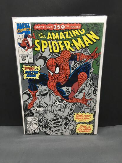 1991 Marvel Comics AMAZING SPIDER-MAN Vol 1 #350 Copper Age Comic Book - Classic DR DOOM Cover