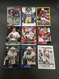 9 Card Lot of FOOTBALL ROOKIE Cards from Huge Collection - Mostly Newer Sets!