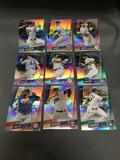 9 Card Lot of BASEBALL REFRACTORS and PRIZMS with Stars and Rookies