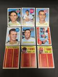 9 Card Lot of 1969 Topps Vintage Baseball Cards from Estate