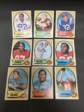 9 Card Lot of 1970 Topps Vintage FOOTBALL Cards from Estate