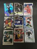 9 Card Lot of FOOTBALL ROOKIE CARDS - Mostly from Newer Sets with Stars and Future Stars!
