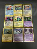 9 Card Lot of Pokemon EX SERIES Holofoil Rare Trading Cards from Binder Set