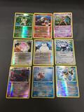 9 Card Lot of Pokemon Diamond & Pearl and HGSS Holofoil Rare Trading Cards from Binder Set