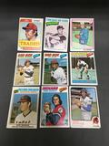 9 Card Lot of Mostly 1970's BASEBALL Star Cards from Huge Closet Find Collection