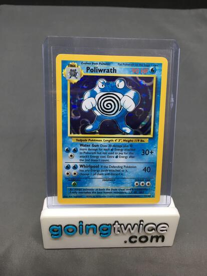 1999 Pokemon Base Set Unlimited #13 POLIWRATH Holofoil Rare Trading Card from Huge Collection