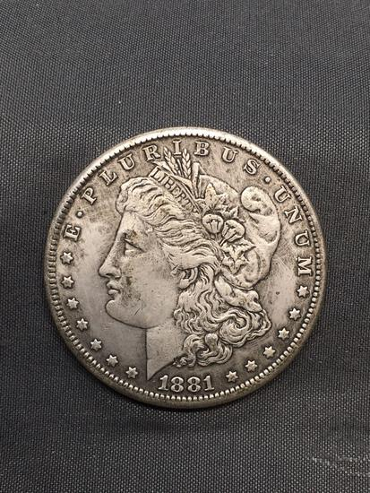 1881 United States Morgan Silver Dollar - 90% Silver Coin from Estate