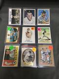 9 Card Lot of MICKEY MANTLE New York Yankees Baseball Cards from Massive Collection
