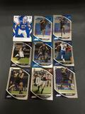 9 Card Lot of FOOTBALL ROOKIE CARDS - Mostly from Newer Sets with Future Stars & More!