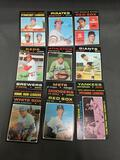 15 Card Lot of 1971 Topps Vintage Baseball Cards from Estate