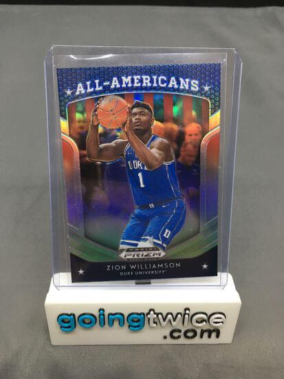 2019-20 Panini Prizm Draft Picks PRIZM REFRACTOR #100 ZION WILLIAMSON Pelicans Rookie Trading Card