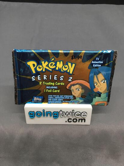 Factory Sealed 2000 Topps Pokemon Series 2 TV Animation Series 8 Card Pack