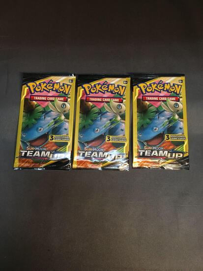 Lot of 3 Factory Sealed Pokemon TEAM UP 3 Card Booster Packs from Retail Box