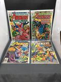 Lot of 4 Vintage Marvel Comics THE AVENGERS Bronze Age Comics Books from Consignor Collection