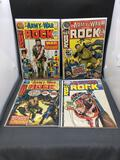 Lot of 4 Vintage DC Comics ARMY AT WAR feat SGT ROCK Bronze Age Comic Books from Consignor