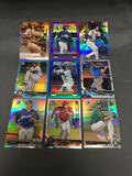 9 Card Lot of REFRACTORS and PRIZMS with Stars and Rookies from AMAZING COLLECTION!!