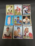 9 Card Lot of 1967 Topps Vintage Baseball Cards from Estate